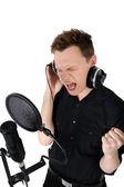 Young man singing song — Photo