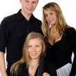 Young classical music team - Stock Photo