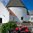 Round church on Bornholm island, Denmark, Europe - Stock Photo