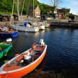 Small marina on Bornholm island — 图库照片