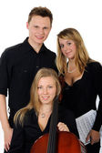 Young classical music team — Stock Photo