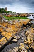 Faro en la isla de bornholm — Foto de Stock