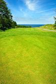 Golf course on Bornholm island — Stock Photo