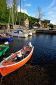 Small marina on Bornholm island — Stock Photo