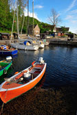 Small marina on Bornholm island — Stockfoto