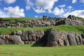 Ancient stone wall in Peru — Stock Photo