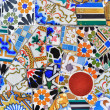Mosaic detail in Guell park in Barcelona — Stock Photo
