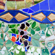 Mosaic of Antoni Gaudi in Guell park in Barcelona, Spain — Stock Photo