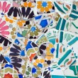 Mosaic in Guell park in Barcelona — Stock Photo