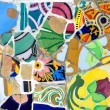 Colorful mosaic in Guell park, Barcelona — Stock Photo