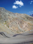 Curved road in Andes — Stock Photo