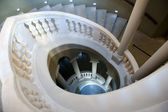 Look down a classic spiral staircase — Stock Photo
