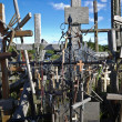 Stock Photo: Hill of crosses, Lithuania, Europe