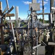 Hill of crosses, Lithuania, Europe - Stock Photo
