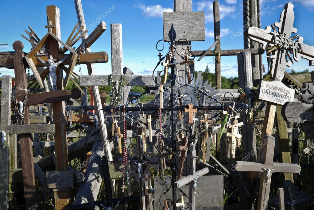 Hill of crosses in Lithuania, Europe — Stock Photo #5178652