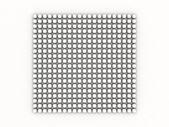 White occlusion bulb pattern on white — Stock Photo