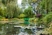 Monet's garden and pond — Stock Photo