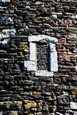 Window in old stone wall — Stock Photo