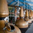 Stock Photo: Whisky distillery stills