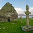 Stock Photo: Kilnave church and cross