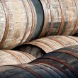 Stock Photo: Whisky barrels