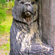 Stock Photo: Bear carving