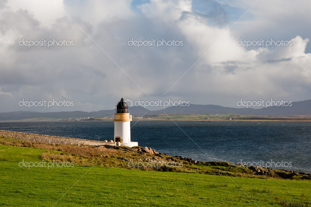 Port Charlotte lighthouse, Islay  Stock Photo #4898829