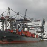 Container port in Antwerp — Stock Photo