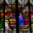 Pentecost window in Cologne Cathedral - Stock Photo