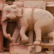 Stock Photo: Elephant bas relief