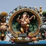 Ganesha sculpture at tempel in Chennai — Stock Photo