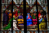 Pentecost window in Cologne Cathedral — Stock Photo
