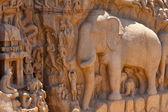 Mahabharata scene on Tamil Nadu mural — Stock Photo