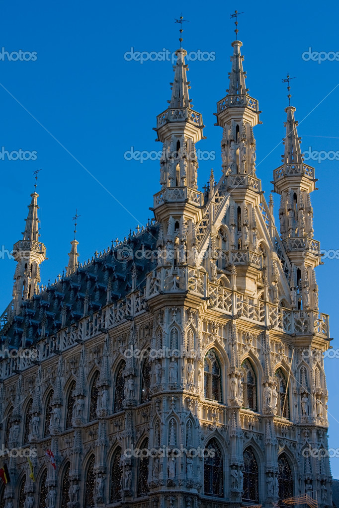 Gothic Town Hall of Leuven, Belgium — Stock Photo #4150435
