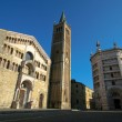 Cathedral and Battistero in Parma, Italy. — Stock Photo #4185246