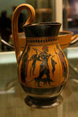 Ancient Greek vase in British Museum in London — Stock Photo