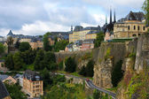View from the Casemates on old Luxembourg City — Stock Photo