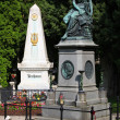 Mozart Memorial and grave of Beethoven — Stock Photo