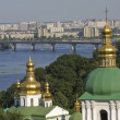 Aerial view on Kiev — Stock Photo