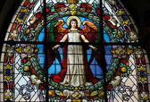 Angel - church window — Stock Photo