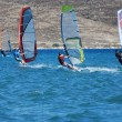Stock Photo: Windsurfing on move