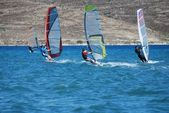 Windsurfing on the move — Stockfoto