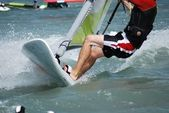 Windsurfing on the move — Foto Stock