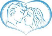 Love in a heart — Stock Vector