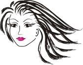 Vector gezicht van een mooie vrouw — Stockvector