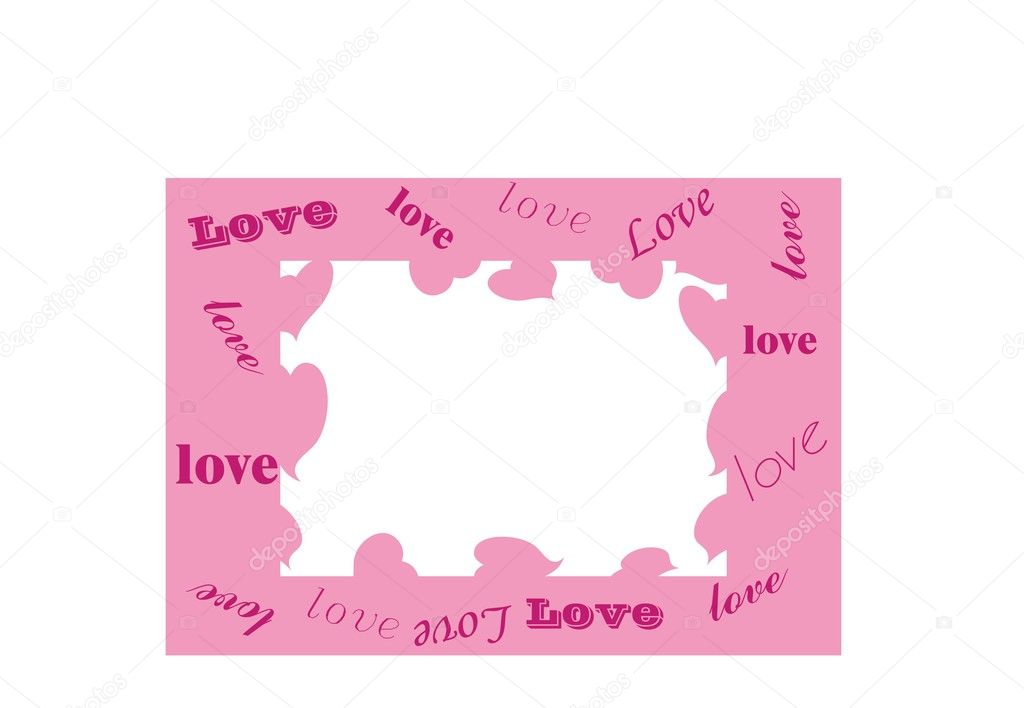 Pink valentines background with hearts  — Stock Vector #4420123