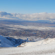 Snow mountains in Turkey Palandoken Erzurum — Stock Photo