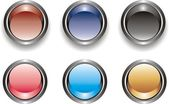 Set of glossy buttons — Stock Vector