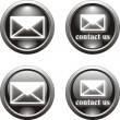 Stock Vector: Black email icon