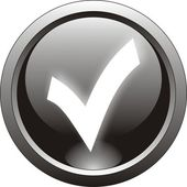 Black tick or checkmark icon — Vector de stock